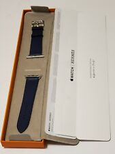 HERMÈS Apple Watch 44mm  Navy Single Tour Demo  band 44mm,  Band Only