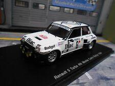 Renault 5 turbo rallye monte carlo 1984 #6 therier DIAC sodicam spark résidus 1:43