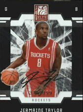 2009-10 Donruss Elite Rockets Basketball Card #189 Jermaine Taylor Rookie