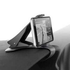 Pinza Soporte de Salpicadero de Coche para Movil Universal Car Mount Clip Negro