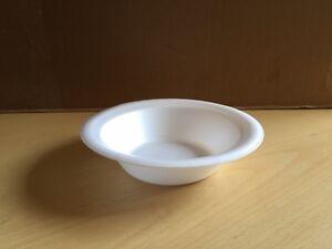 White Polystyrene Bowls 8oz Disposable x 50/100/200/400/600