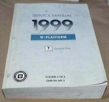 1999 Pontiac Grand Prix OEM Service Shop Manual Volume 3 - Transmission