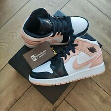 Nike Air Jordan 1 Mid GS 'Crimson Tint Pink' - UK 3 / US 3.5Y - Top Seller ✅