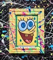 spongebob toys pop art frames print sponge bob square pants colorful fan art