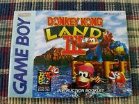 Donkey Kong Land III - Authentic - Nintendo Game Boy Manual Only DMG-AD3E-USA-1