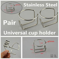 2Pcs Stainless Steel Cup Drink Holder For Marine Yacht Truck RV Car Trailer Boat