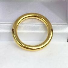 24K Solid Pure Gold Handcraft Solid Weeding Band Ring 7.88 Grams. Size 5.75