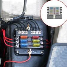 6 Way Blade Fuse Holder Box Block Case Holder 32V For Truck Boat Marine RV Van