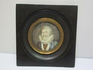 "Miniaturbild ""Portraitbild"" (Gr. ca. 11 x 11,5 cm) AS320"