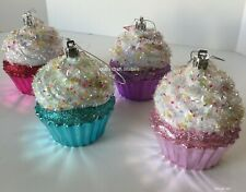 Christmas Styrofoam Cupcakes-Candy Ornaments H-3 3/4""