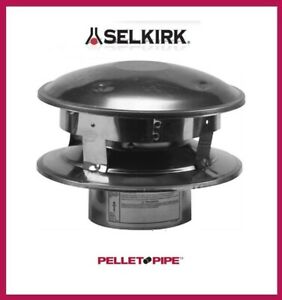 "SELKIRK 3"" Verticle Termination Rain Cap #3VP-VC PELLET VENT PIPE"