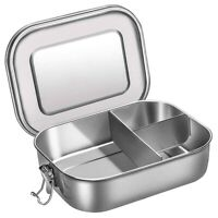 1X(Stainless Steel Bento Box Lunch Container,3-Compartment Bento Lunch Box 5R1)
