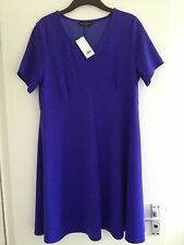 BNWT Ladies Dorothy Perkins Purple/Blue A-line Skater Knee Length Dress -Size 18