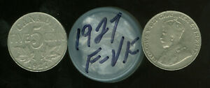 1927 CANADA 5 CENTS ROLL OF 40 COINS GRADES F TO VF