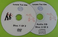 Learn Tai Chi DVD Beginners Relaxation Exercise Health Fitness & Audio CD