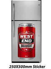West End Draught Beer Can Sticker 250x500mm Decal Plaque Sign Poster
