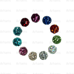 2/ BALLS JEWELLED LIP LABRET BELLY NAVAL  BAR SPARE PIERCING REPLACEMENT 3-6mm