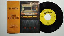"BUCK RAM & ROCK'N' RAM ORCHESTRA HEY OPERATOR RCA CAMDEN ITALY 7""+PS PLATTERS"