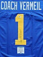 Dick Vermeil Saint Louis Rams Signed Autographed Blue XL Jersey Beckett COA