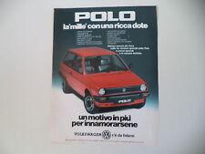 advertising Pubblicità 1983 VOLKSWAGEN POLO