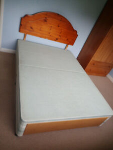 Myers divan double bed base and head board.