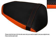 ORANGE & BLACK CUSTOM FITS KTM 1290 SUPERDUKE R 13-15 REAR LEATHER SEAT COVER