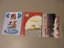 Lot Of 3 Madison,Indiana,Nashville ,Boat Hydroplane Racing Programs,Miss Bud,