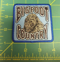 BIGFOOT COUNTRY!! beautiful embroidered patch - cool collectible patch! Unused!