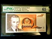 Yugoslavia 1000 Dinara 1990 World Paper Money UNC Currency - PMG Certified