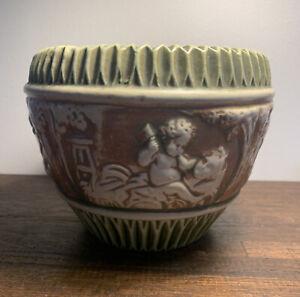 "Roseville Pottery, c. 1915-18, ""Donatello"" 8"" Planter Jardiniere"