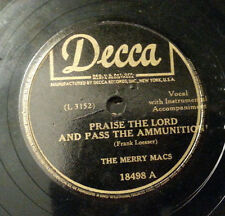 """Merry Macs - Praise The Lord And Pass The Ammunition *MISPRINT* (10"""" 78)"""