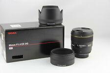 Sigma DG EX AF 85mm 1:1.4 HSM Nikon F Mount in OVP # 5920