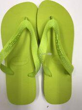 Havaianas Top NEON Green Flip Flop Verde Lime Brazil - size 35/36 Brazilian