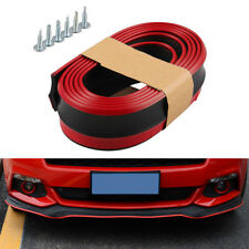 "100"" Car Front Bumper Valance Chin Lip Splitter Spoiler Skirt Protector Red Trim"