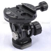 2D ±90° Tilt Ball Head+Clamp for Camera Tripod Monopod &Quick Release Plate