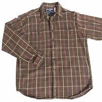 Vintage Men's Polo Sport Ralph Lauren Plaid Button Down Shirt Size Large Flannel