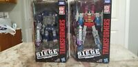 Transformers Decepticon Lot Soundwave and Starscream Siege War For Cybertron