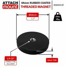 44mm Magnet 14 20 Female Thread Rubber Coated