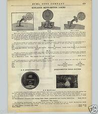 1924 PAPER AD Schlaich Moto Meter Lock Radiator Cap Truck Trator Car Auto