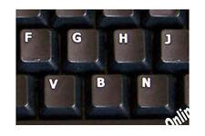 GERMAN  KEYBOARD STICKER FOR COMPUTER NON TRANSPARENT BLACK BACKGROUND NEW