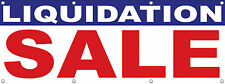 "LIQUIDATION SALE BANNER SIGN, 96"" X 36"" Multi Color DPSBanners Brand 8X3"