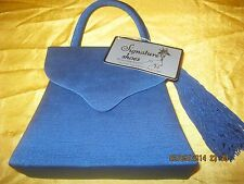 Alfa New Grosgrain purse evening bag w/ side tassel shoulder strap Electric Blue