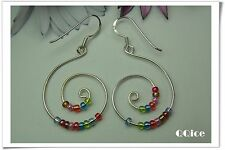 'QQice' 925 Sterling Silver-Rainbow Spin-Earrings