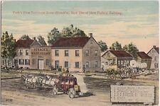 Pennsylvania Pa Postcard c1910 YORK Strack's Warerooms FIRST FURNITURE STORE