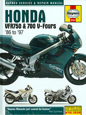 1986 87 88 89 90 91 92 93 94 95 96 97 HOHDA VFR750/ 700 V- FOURS  SHOP MANUAL