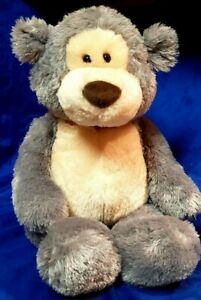 "G5.0 GUND 24"" Plush Bear Large Jumbo Big Stuffed Teddy Gray Cream"