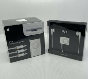 New Sealed Apple Accessories iPod Radio Remote and AV Connection Kit