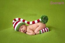 Neugeborene Baby Knit Strick Fotoshooting Kostüm Langen Schwanz Mütze Booties