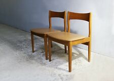 Set of 6 1970's English mid century leatherette dining chairs