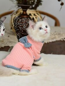Cat Winter Warm Sweater Costumes Soft Pullover Clothes Kitten Pet Supplies 1pc